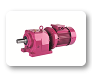 MV Series : Helical geared motors with IEC B5/B14 motor flange, foot mounted