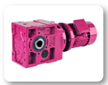 KV Series :  Bevel geared motors, IEC B5/B14 flanged input