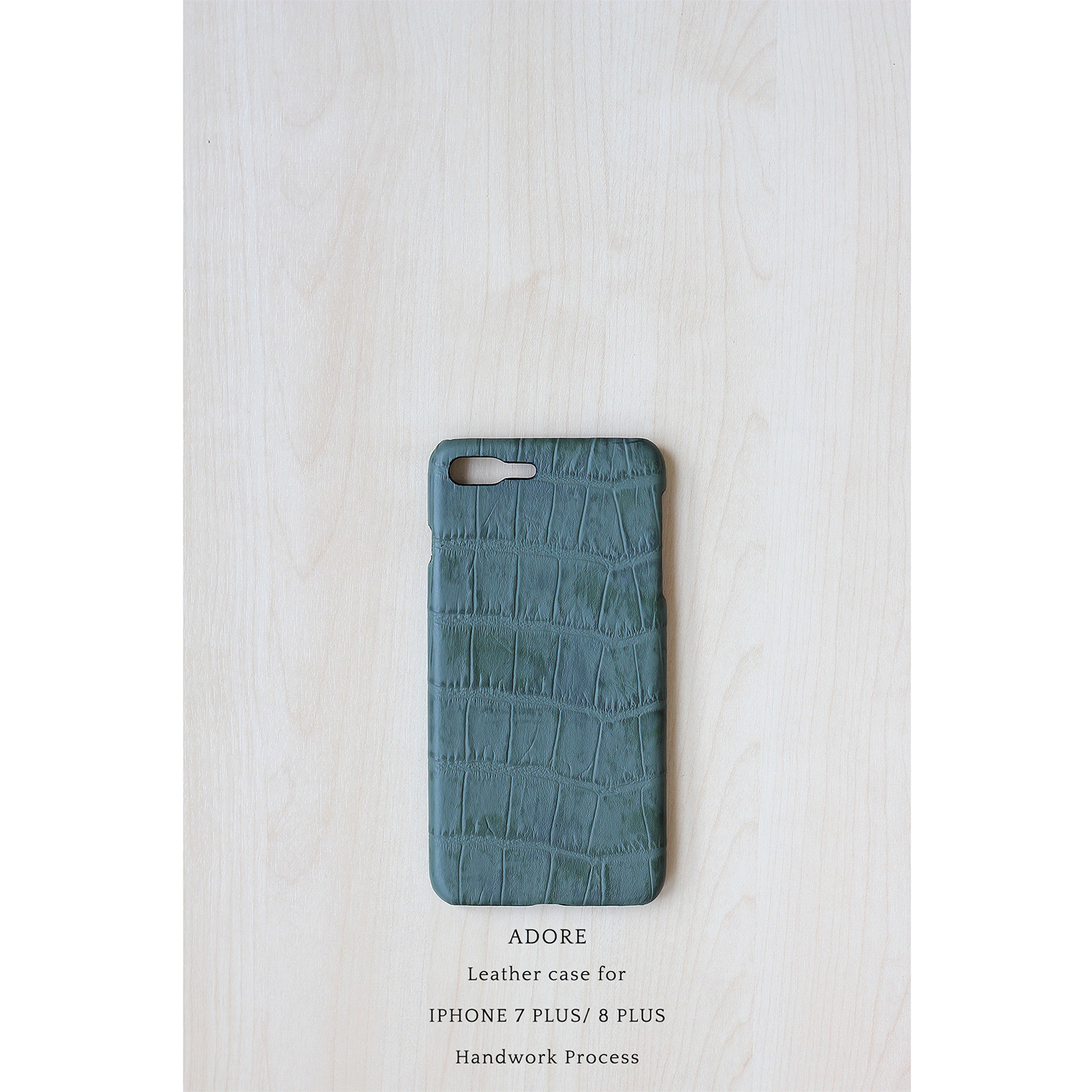 Leather case for Iphone 7 PLUS / 8PLUS (Forest Green)