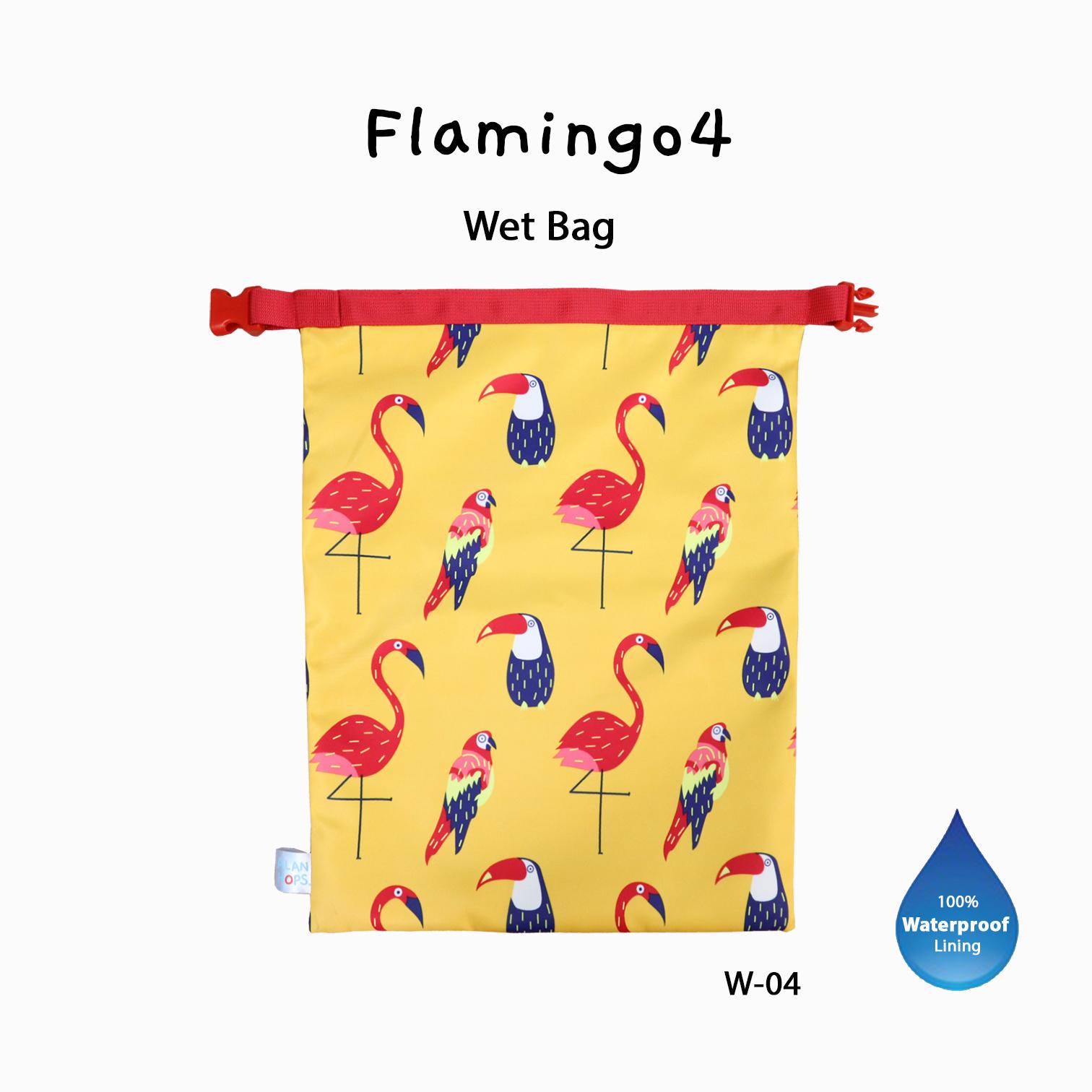 Wet Bag Flamingo4/กระเป๋าเปียกมีสายเข็มขัดรัด