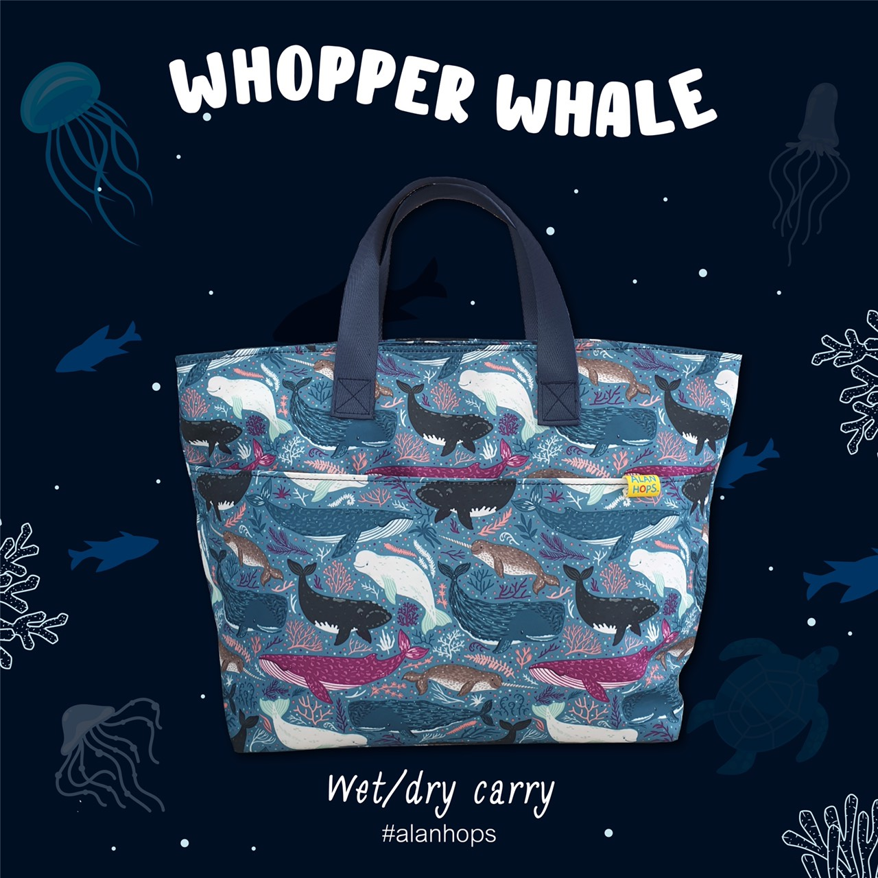 Alan Hops Carry/Whooper Whale