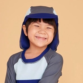 Holihi Accessories/ Sun-Shading Beach Cap (Koh He Navy)