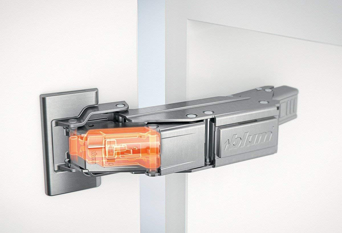 BLUMOTION is integrated into the hinge arm