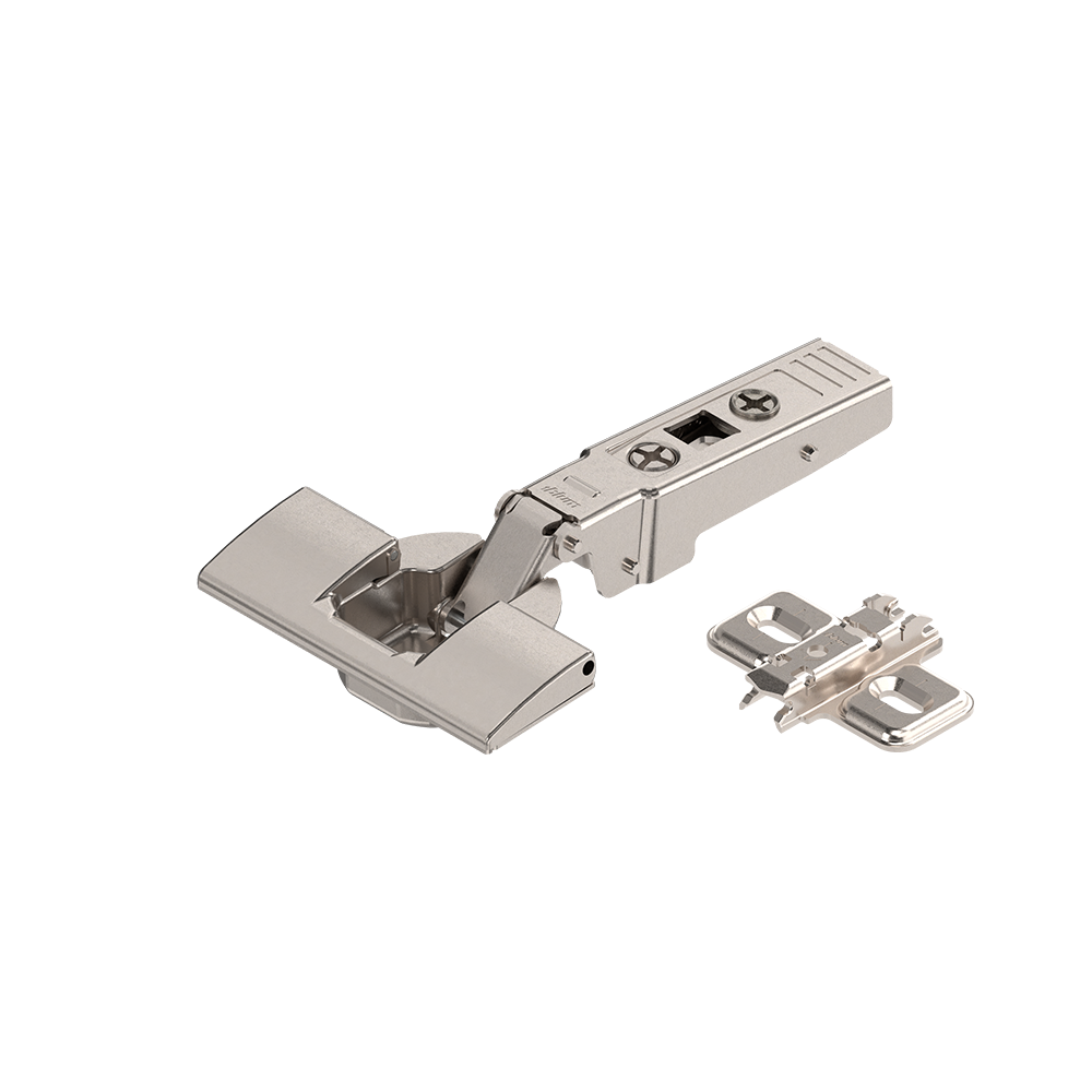 Hinge for thick doors and doors with profile