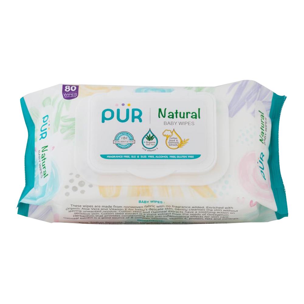 Pur Natural Baby Wipes (80 ชิ้น/แพ็ค)