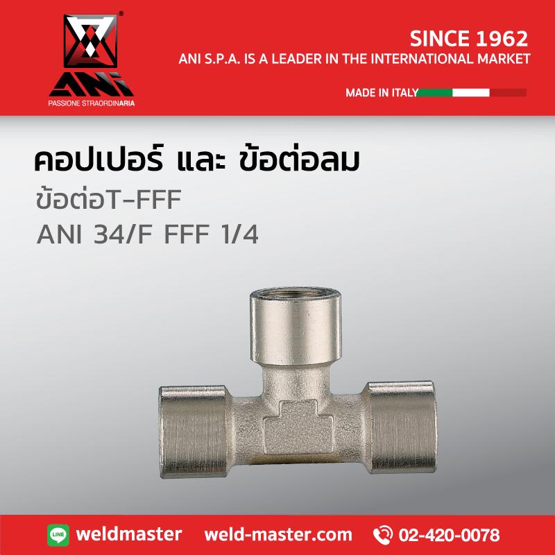 ANI 34/F FFF 1/4 ข้อต่อT-FFF