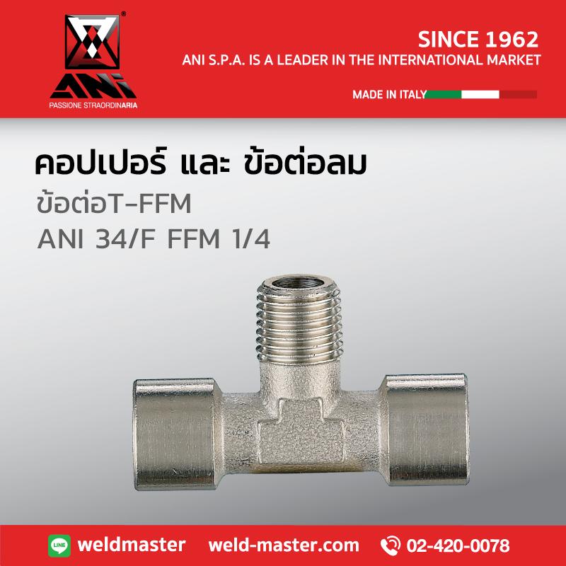 ANI 34/F FFM 1/4 ข้อต่อT-FFM