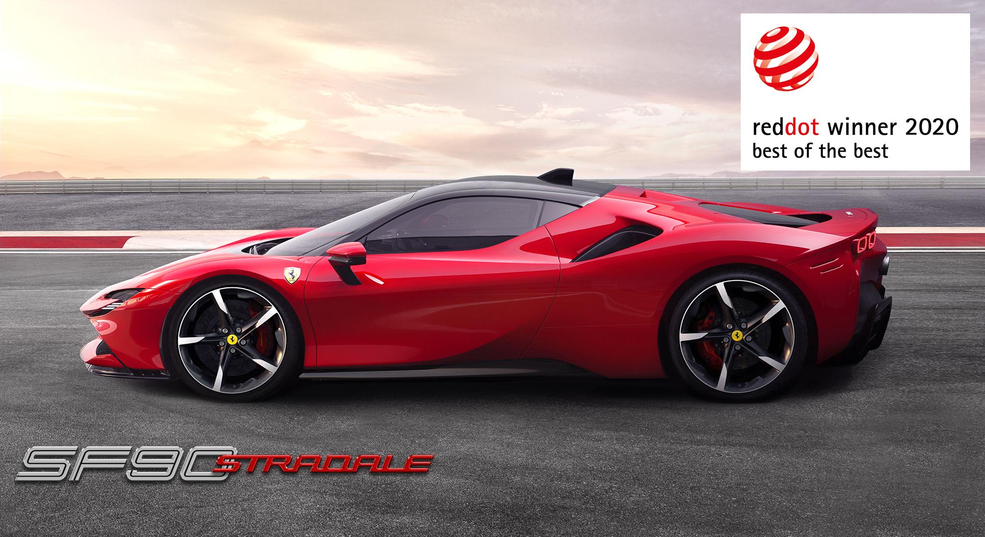 เฟอร์รารี่ SF90 Stradale คว้ารางวัลการออกแบบยอดเยี่ยม  'Best of the Best' จาก Red Dot Award
