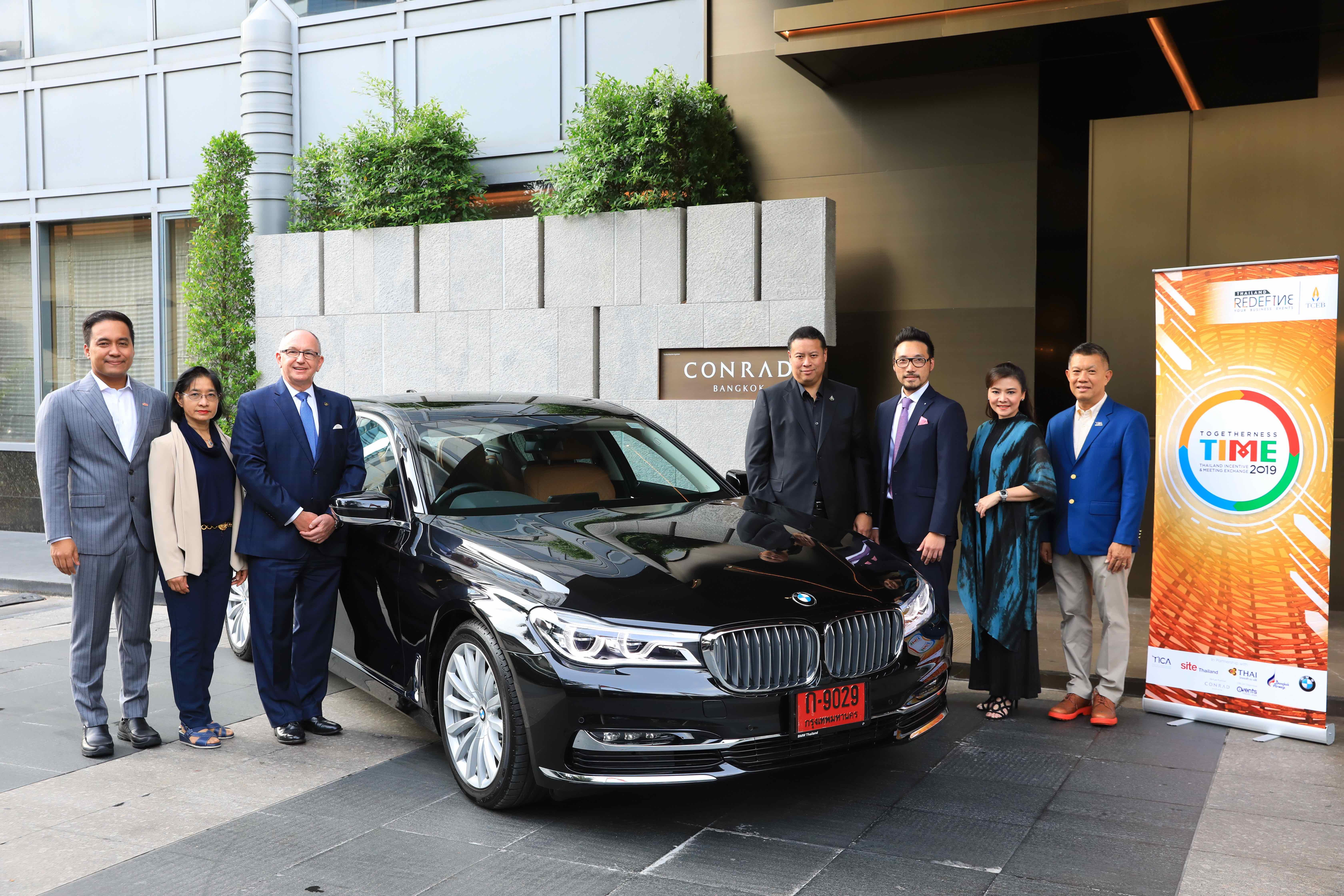 บีเอ็มดับเบิลยู ประเทศไทย ร่วมสนับสนุนงาน TIME 2019 บริการพันธมิตรที่มาร่วมงานด้วยรถรับส่งระดับพรีเมียม บีเอ็มดับเบิลยู ซีรี่ส์ 5 และซีรี่ส์ 7