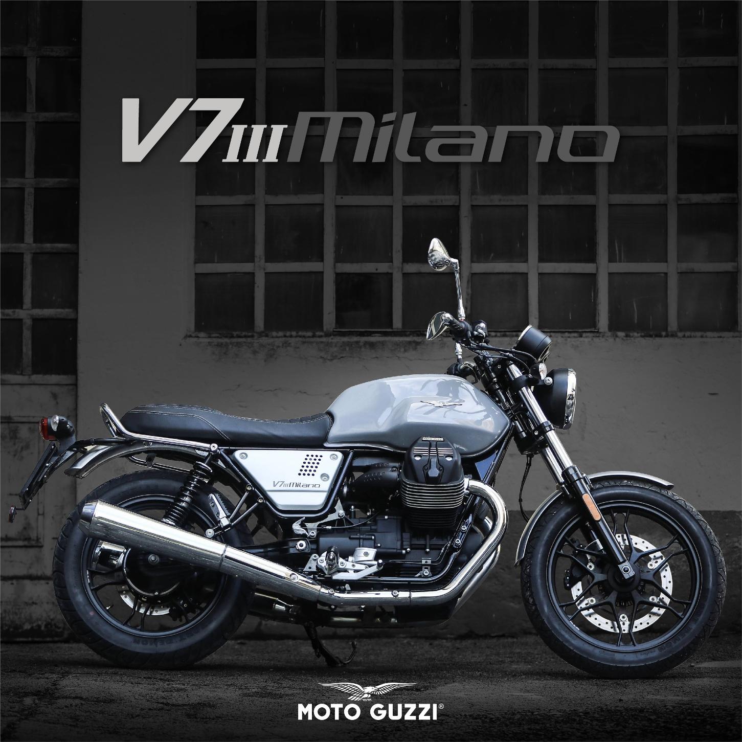 """เตรียมสัมผัสความตื่นเต้นแห่งการขับขี่ครั้งใหม่ด้วยโมเดลรุ่นพิเศษล่าสุด  """"Moto Guzzi V7 III Milano"""" สุดยอดมอเตอร์ไซค์อิตาเลี่ยนคลาสสิคระดับตำนาน  หนึ่งในรุ่นฉลองครบรอบ 50 ปีของตระกูล V7 ในงานมอเตอร์เอ็กซ์โป ครั้งที่ 35"""