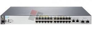 Aruba 2530-24-PoE+ Switch (24 x 10/100 PoE+ ports, 2 x  10/100/1000 ports, 2 SFP ports, 195W)