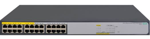 HP 1420-24G, 12-PoE+ ports, 12-Non-PoE+ ports, 124W, fanless operation