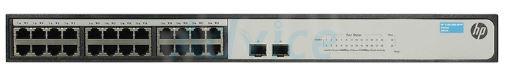 HP 1420-24G, 2 SFP ports, fanless operation