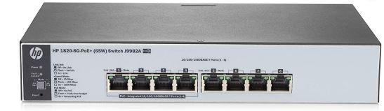 HP 1820-8G-PoE+ (65W) Switch (4 x 10/100/1000 PoE+, 4 x 10/100/1000)