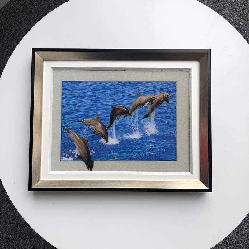 5D printing service / 30x40cm 3d picture of dolphin in stock