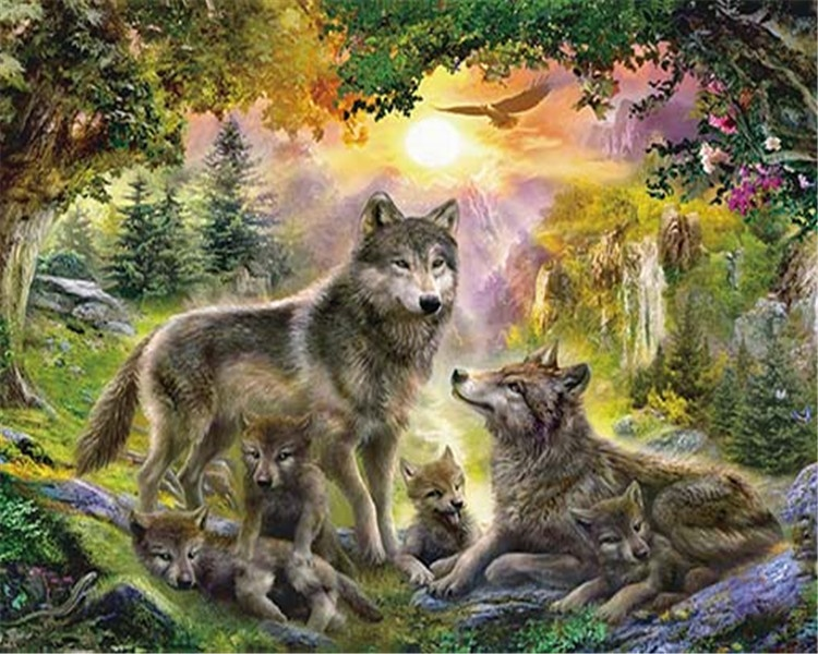 60*40cm 3D picture 3D lenticular picture of wolf for decoration