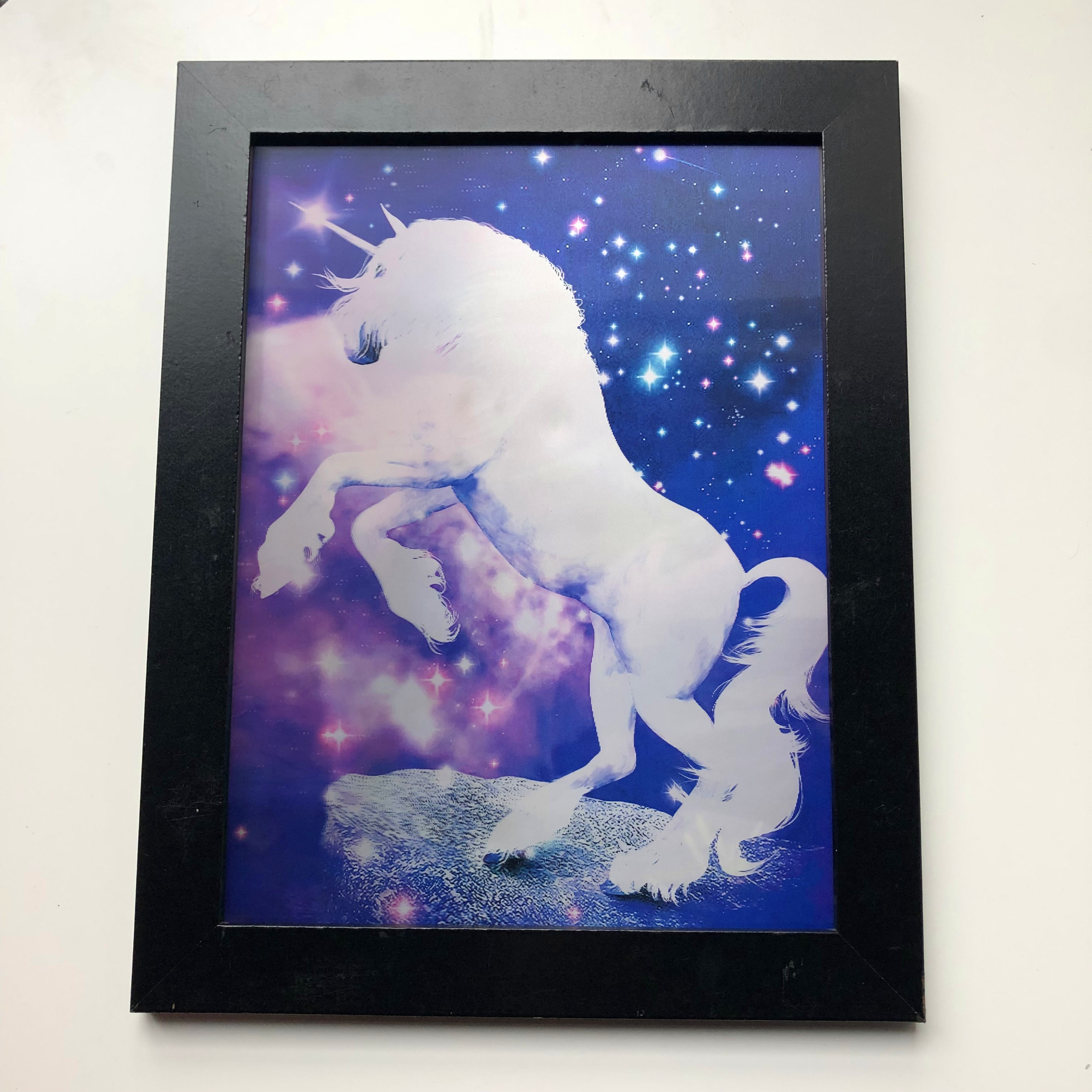 Beautiful 3d wall pictures of animals unicorn