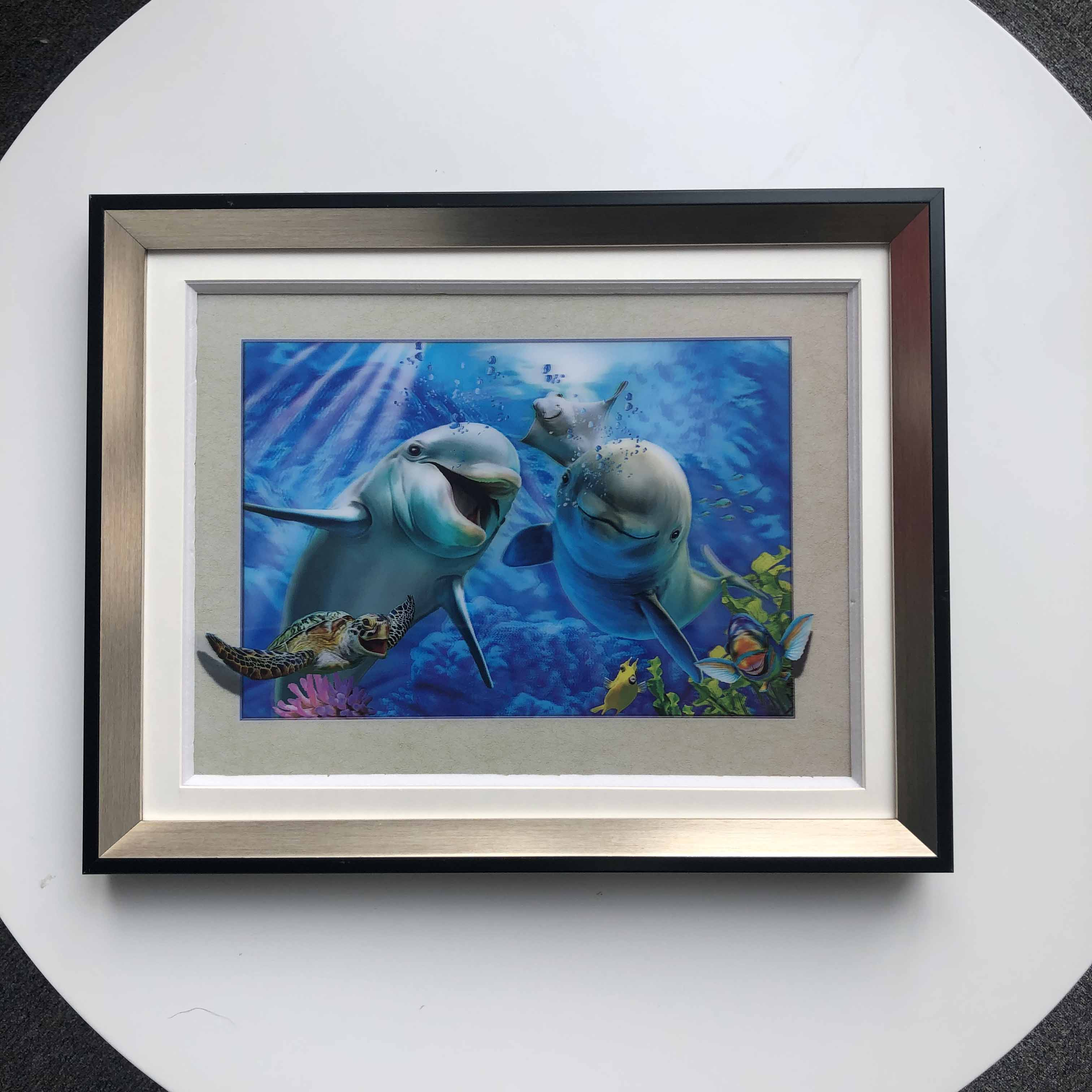 Sea turtle dolphin 5D lenticular animal printing pictures for decoration