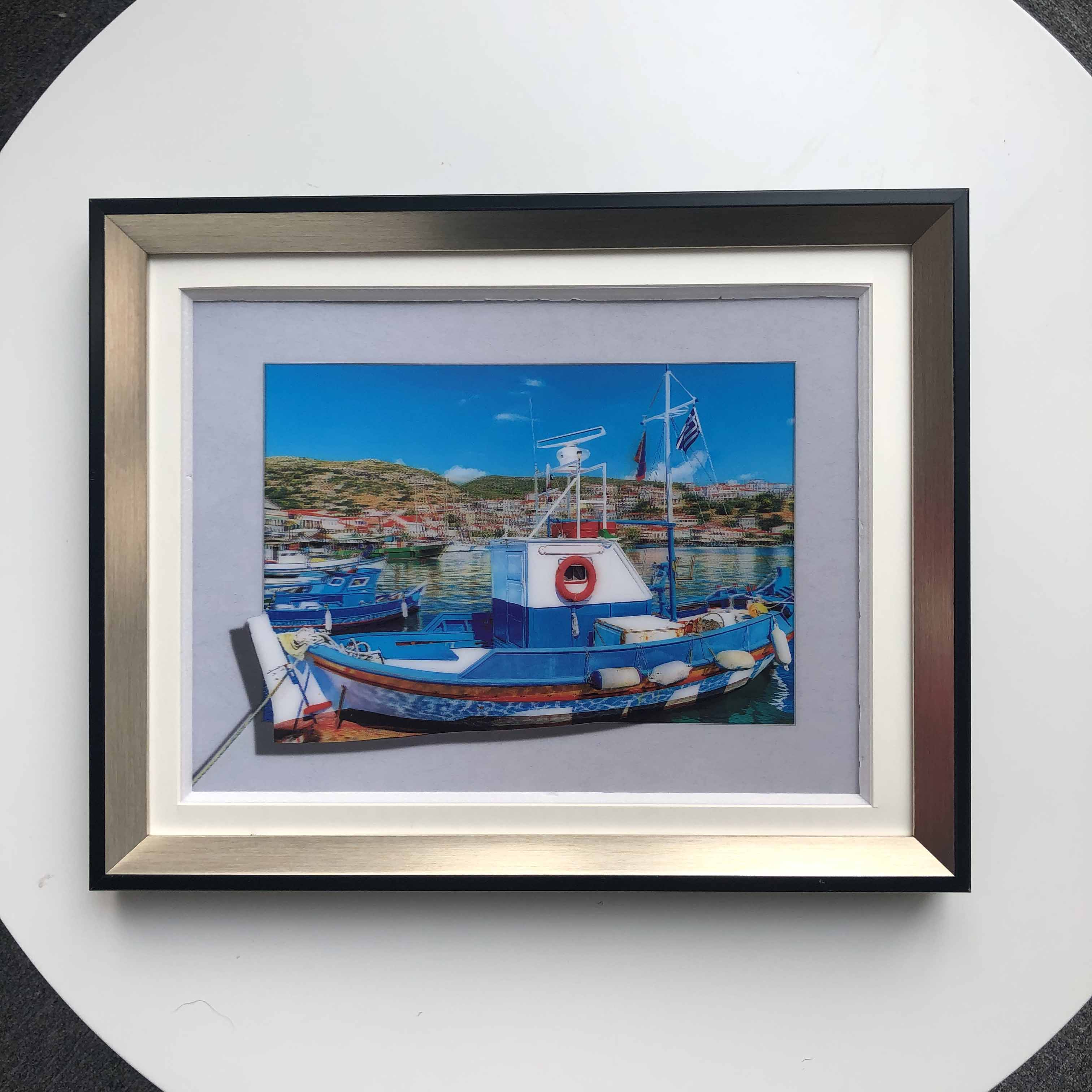 Wholesale 5D Picture Photo best 5D picture with fram for wall art of boat