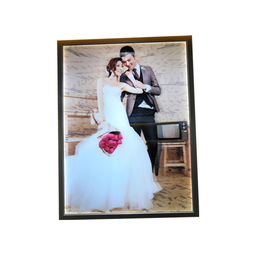 led lenticular picture frame for wedding photos