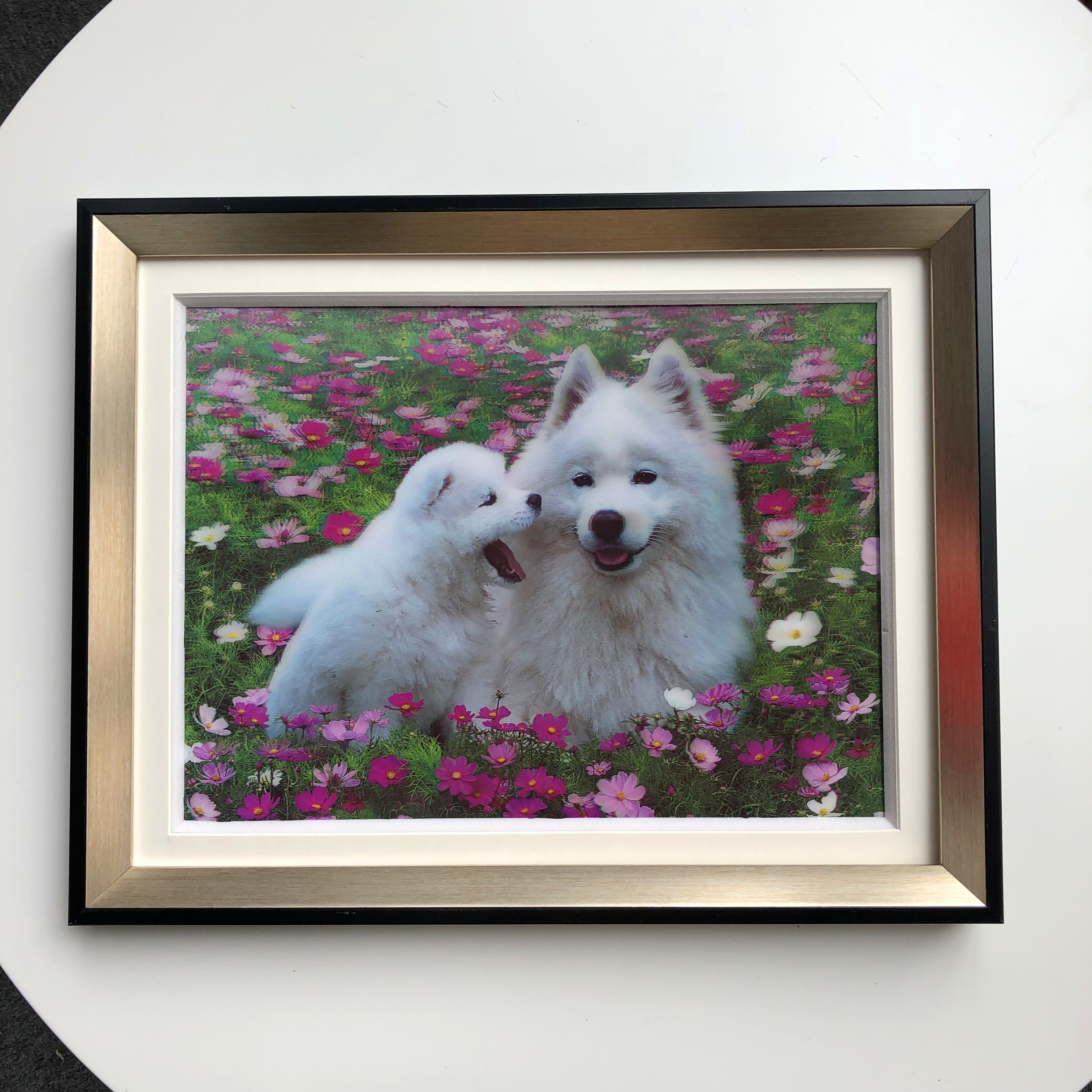 Hot Sell 3D picture with Animal 3D 5D lenticular picture home decoration of vivid dogs