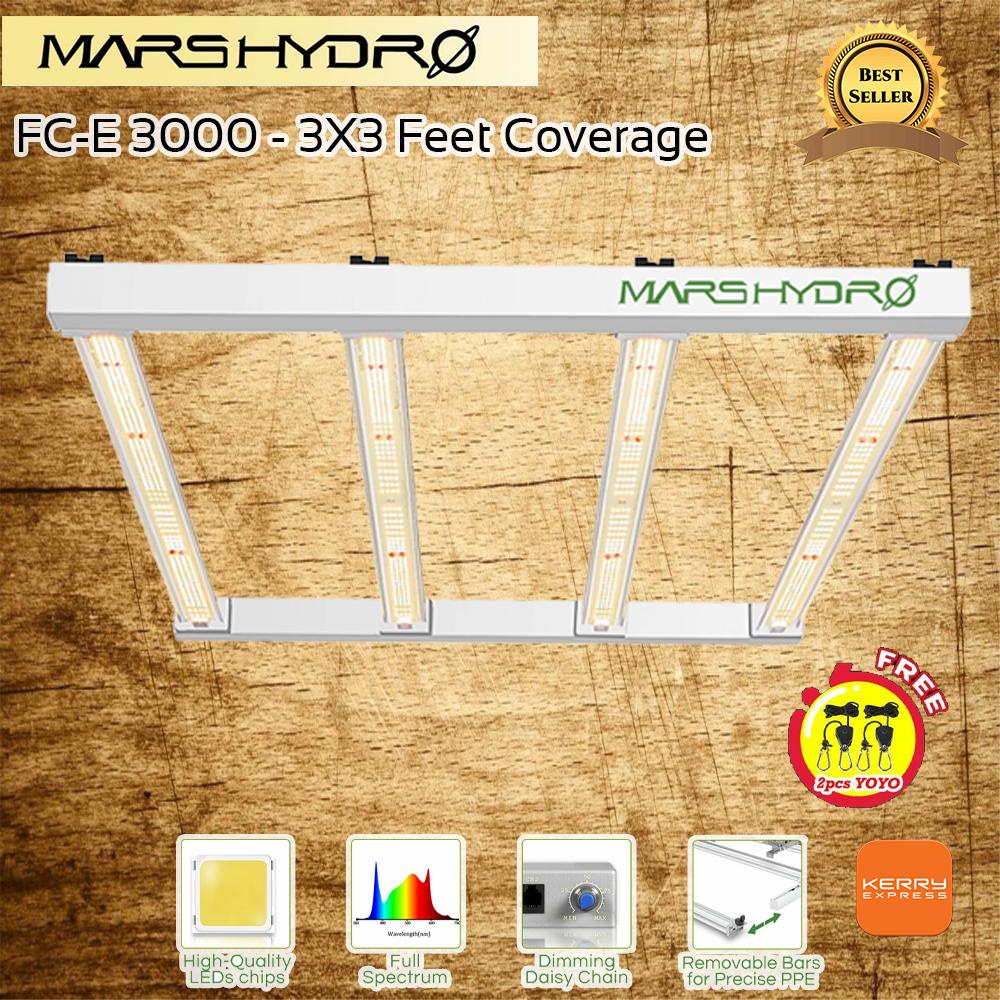 MARS HYDRO FC-E3000 LED GROW LIGHT FOR INDOOR PLANTS FULL SPECTRUM 300W 3FTX3FT 4FTX4FT COVERAGE