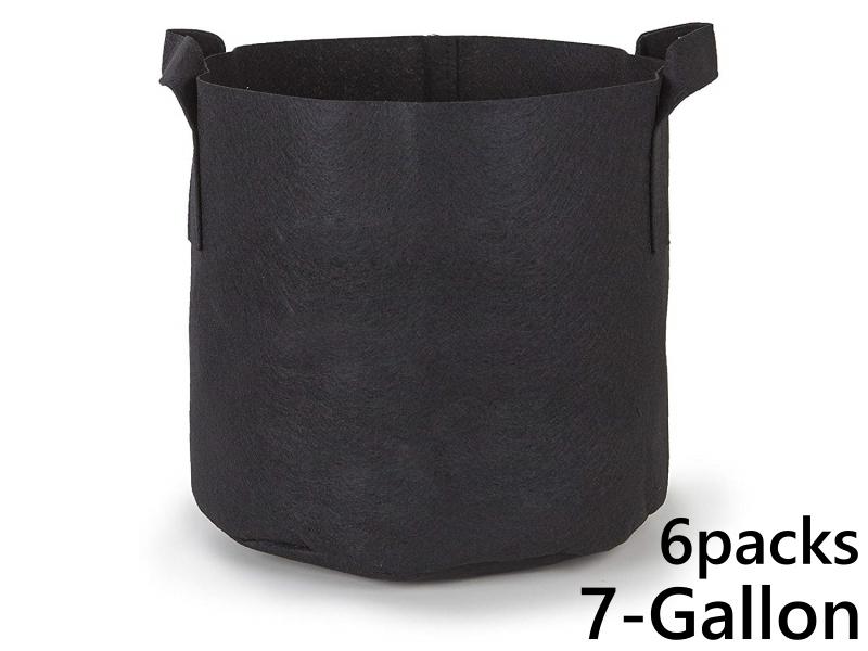 แพ็ค 6! ถุงปลูกต้นไม้แบบผ้า ขนาด 7แกลลอน สูง 30ซม Smart Grow Bag 7-Gallon - Fabric Pot