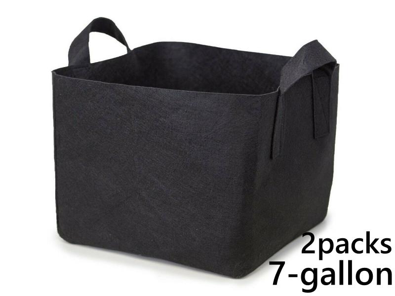 แพ็ค 2! ถุงปลูกต้นไม้แบบผ้า ขนาด 7แกลลอน ทรงสี่เหลี่ยม สูง 30ซม Smart Grow Bag 10-Gallon - Fabric Pot Square Shaped