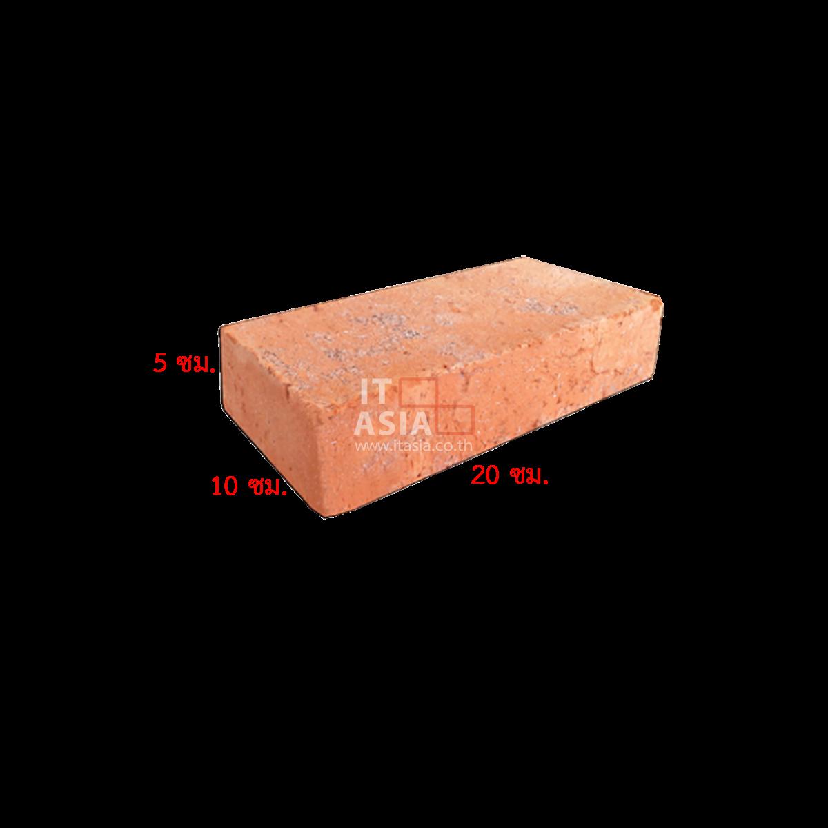 อิฐมอญโบราณ 01  (เผาแกลบ) ขนาด 5X10X20 ซม.