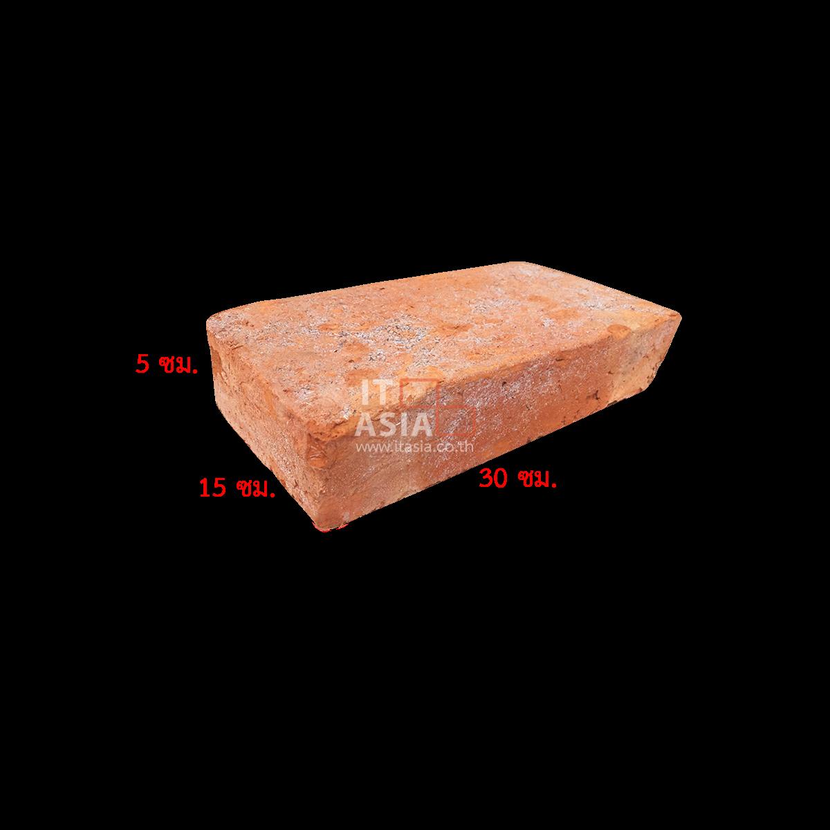 อิฐมอญโบราณ 02  (เผาแกลบ) ขนาด 5X15X30 ซม.
