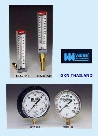 """THERMOMETER, PRESSURE GAUGE """"WEISS"""""""