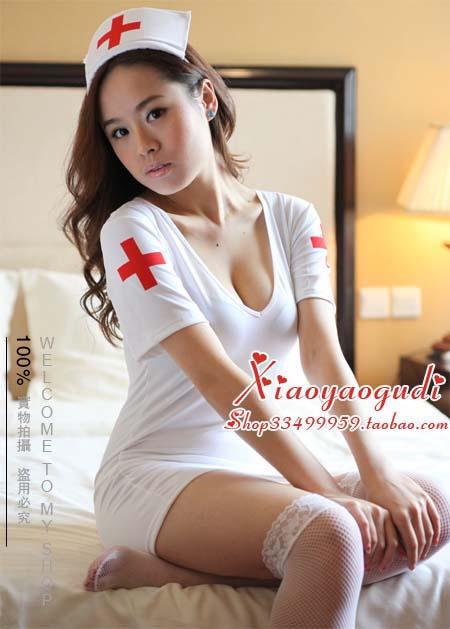 ชุดพยาบาลสาวสวยสุดเซ็กซี่ ผ้ายืดเนื้อดีค่ะ+หมวก+จีสตริง ฟรีไซต์