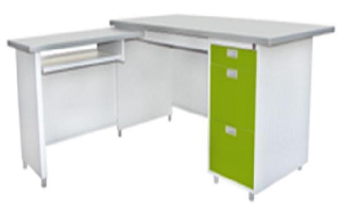 โต๊ะทำงาน DL หน้าโต๊ะเหล็ก ผิวลามิเนท DL-52-3ADK
