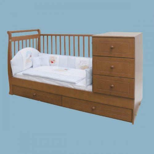 เตียงเด็กอ่อน-ขยาย 5 ลิ้นชัก