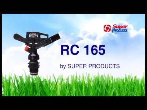 """สปริงเกอร์อิมแพค พลาสติก หัวฉีดหมุนรอบตัว เกลียวนอก3/4""""  รุ่น RC-165 Super Products"""