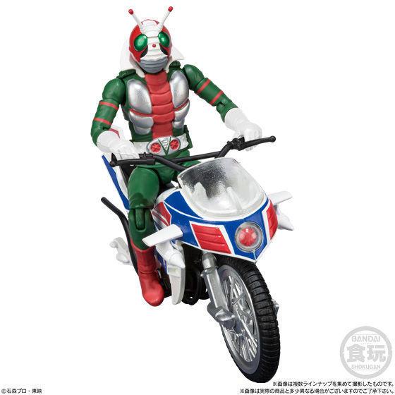 SHODO-X Kamen Rider 7 - Kamen Rider V3 + Hurricane A,B