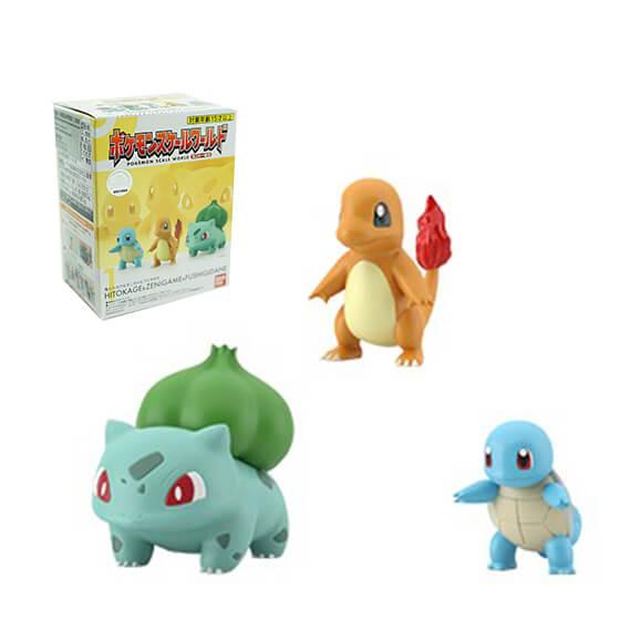 Pokemon Scale World: No.1 Hitokage&Zenigame&Fushigidane
