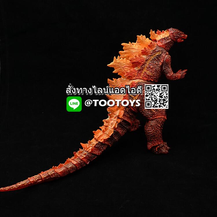 โมเดลก็อตซิลล่า Godzilla 2019 Action Figure มีจุดขยับจัดท่าทางได้ 25 จุด Version Fire Burning (ตัวสีส้ม)