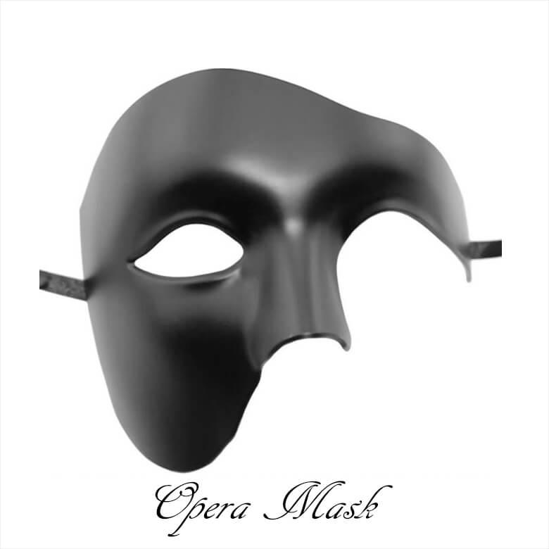 หน้ากากแฟนทอมโอเปร่าอย่างดีสีดำ