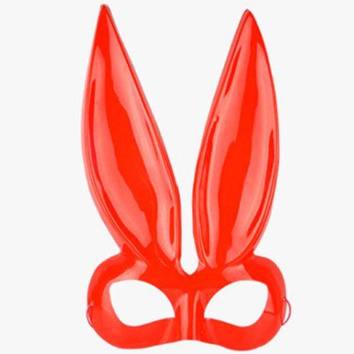 หน้ากากหูกระต่าย bunny (ทรงเว้า) สีแดง