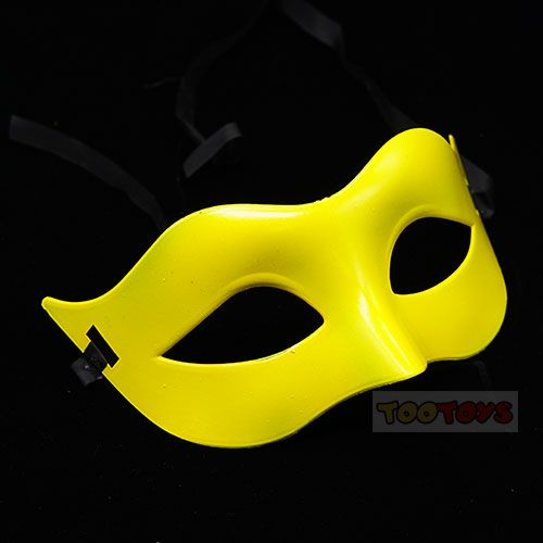 หน้ากากแฟนซี รุ่น หน้ากากคาดตา สีเหลือง - Venetian Collection