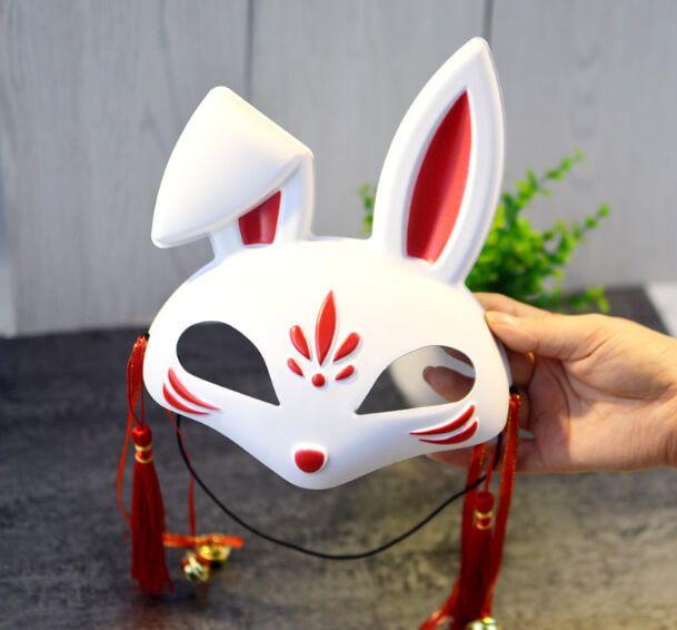 หน้ากากกระต่ายญี่ปุ่นเพ้นท์ลายสวย