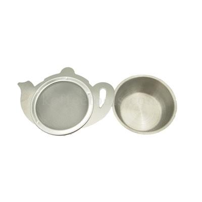 อุปกรณ์กรองชาแสตนเลสรูปกามีถ้วยรอง