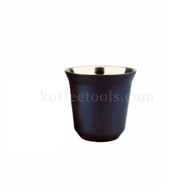 ถ้วยกาแฟเอสเพรสโซ่สแตนเลส 2 ชั้น (80 ml) สีน้ำเงินกรมท่า