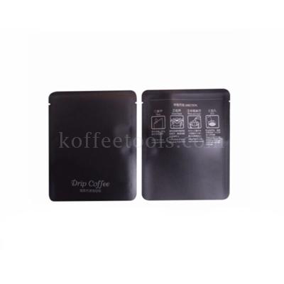 ซองฟอยล์ใส่เมล็ดกาแฟดริป สีดำ พิม Drip coffee (50 pcs /pack )