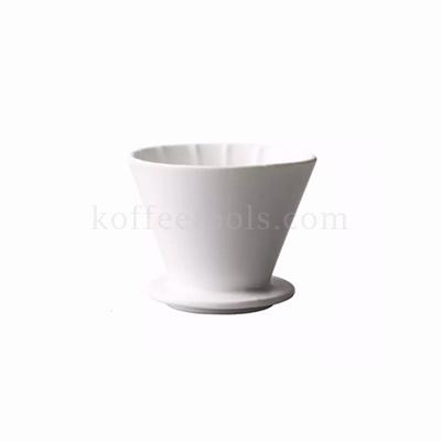 ดริปเปอร์เซรามิคทรงถ้วย สีขาว ( 2-4 cups) grade B