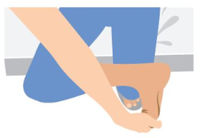 บริหารแก้อาการเจ็บส้นเท้า