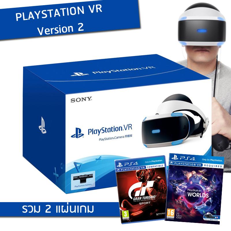 Playstation VR - V.2 พร้อม PS4 Camera + 2 GAME VR - ประกันศูนย์ไทย