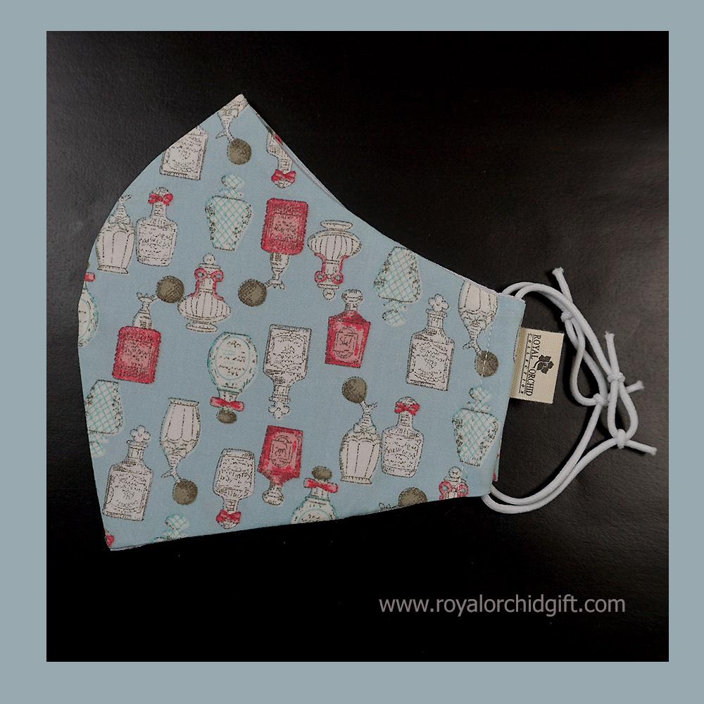 หน้ากากผ้า หน้ากากผ้าฝ้าย  2 ชั้น มีช่องใส่แผ่นกรอง