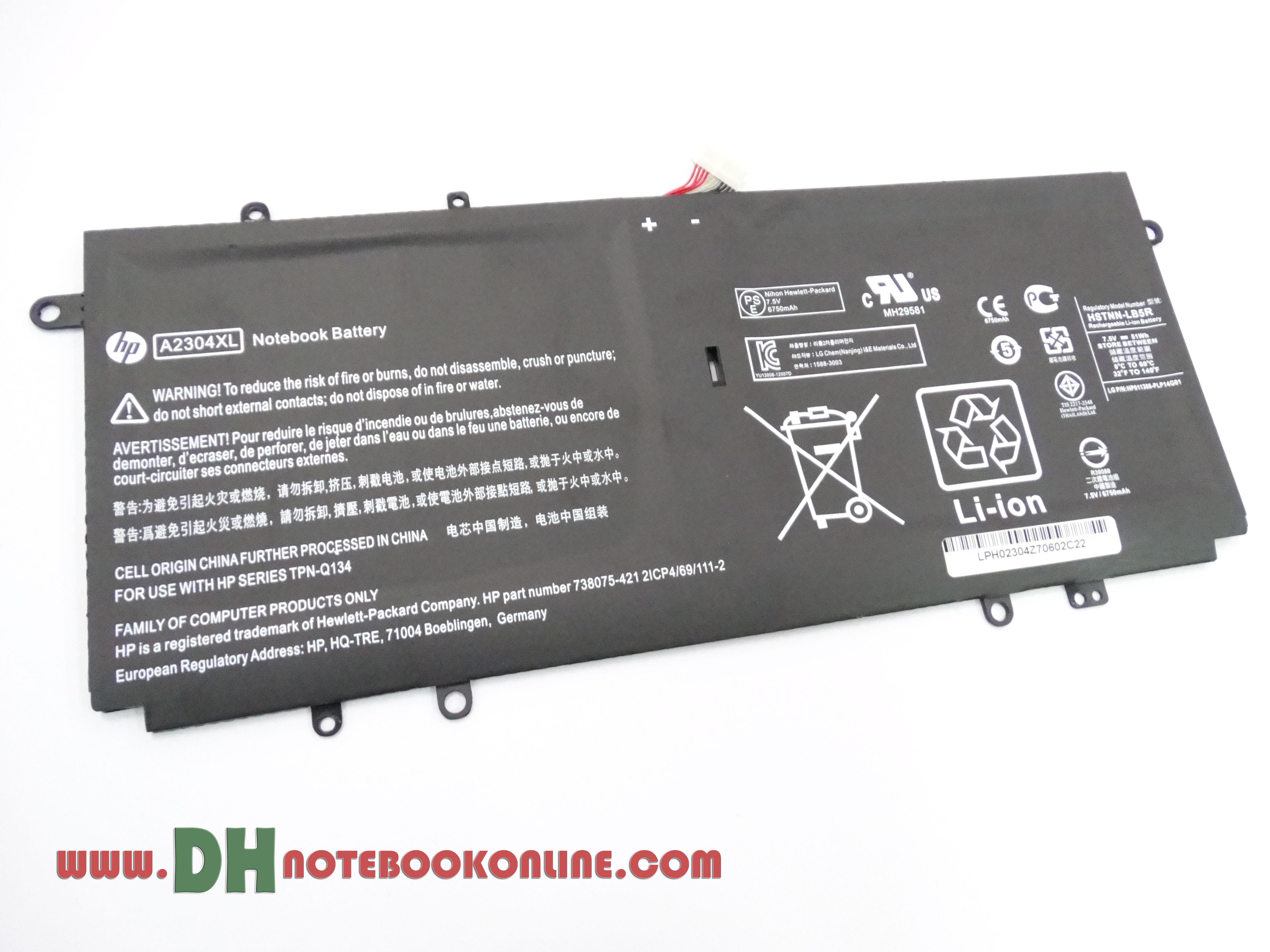Battery Notebook HP A2304XL